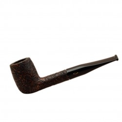 ROMBO (Sabbiata) straight billiard briar sandblasted pipe by Brebbia (Italy)