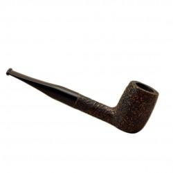 ROMBO (Sabbiata) straight billiard briar sandblasted pipe by Brebbia (Italy)