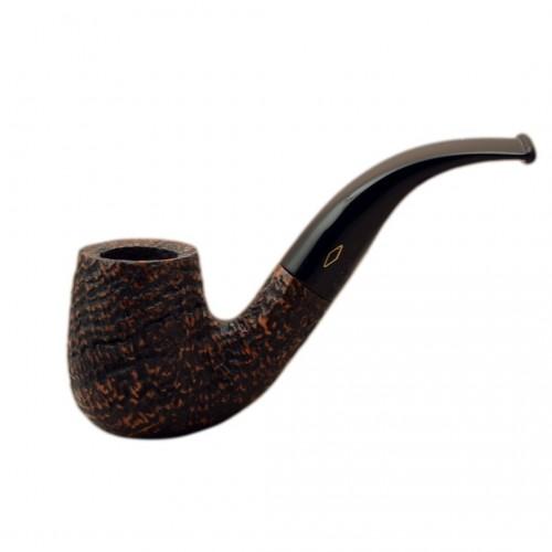 ROMBO (Sabbiata) briar bent billiard tobacco smoking pipe by Brebbia (Italy)