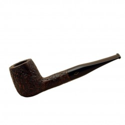 ROMBO (Sabbiata) briar straight billiard sandblasted pipe by Brebbia (Italy)