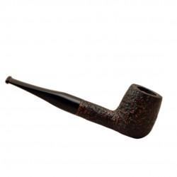ROMBO (Sabbiata) briar straight billiard sandblasted pipe by Brebbia (Italy)