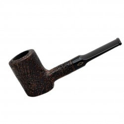 JUNIOR (Sabbiata noce 2710) briar rustic poker brown tobacco smoking pipe from Brebbia (Italy)