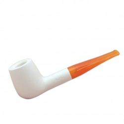 MARA CLASSIC (bianca 1001) meerschaum lined tobacco pipe by Brebbia (Italy)