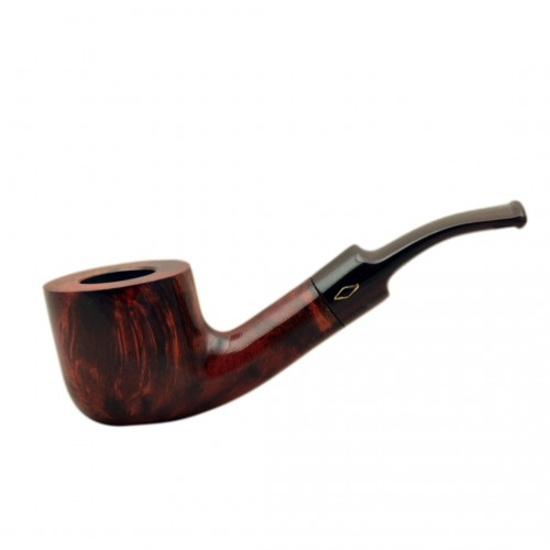 ROMBO (Marezzate) briar bent pot tobacco smoking pipe by Brebbia (Italy)