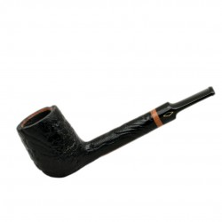 SERIE 1960 (Sabbiata nera 7001) briar sandblasted straight billiard tobacco smoking pipe starter kit by Brebbia (Italy)
