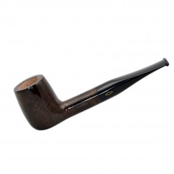 STAND UP (Noce 2817) briar straight billiard tobacco pipe by Brebbia (Italy)