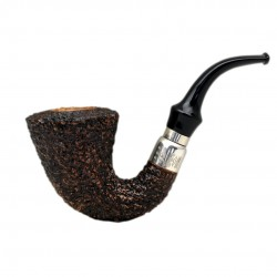 FIRST CALABASH (Rocciata scura 1997) briar smoking pipe from Brebbia (Italy)
