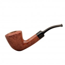 SERIE X (6010 ambrata) briar bent smooth tobacco smoking pipe from Brebbia (Italy)