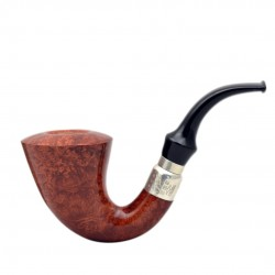 FIRST CALABASH (selected 1997) briar smoking pipe with the sterling silver (925) mount and stem ring from Brebbia (Italy) 05