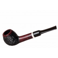FAVORITE #101 straight rustic black and red briar tobacco smoking pipe by Mr. Brog (Poland)