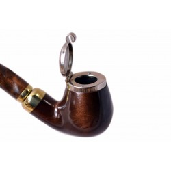 DEZERTER #13 brown churchwarden tobacco smoking pipe by Mr. Brog (Poland)