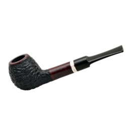 FAVORITE #101 straight rustic red and black briar tobacco smoking pipe by Mr. ..