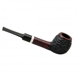 FAVORITE #101 straight rustic red and black briar tobacco smoking pipe by Mr. Brog (Poland)
