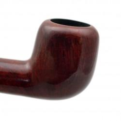 POZEN #102 briar billiard smooth red tobacco smoking pipe by Mr. Brog (Poland)
