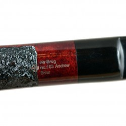 ANDREW no. 103 briar rustic tobacco smoking pipe by Mr. Brog (Poland)