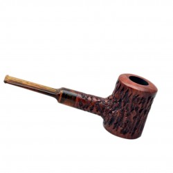 AGED no. 107 briar straight rustic brown poker pipe by Mr. Brog (Poland)