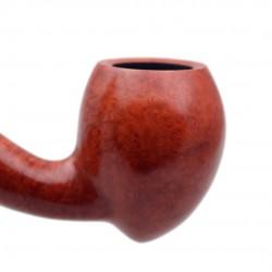 MARCO POLO no. 109 briar smooth orange churchwarden tobacco smoking pipe by Mr. Brog (Poland)