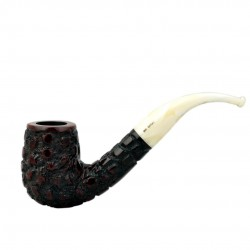 WALRUS TUSK (no. 111) bent billiard rustic pipe