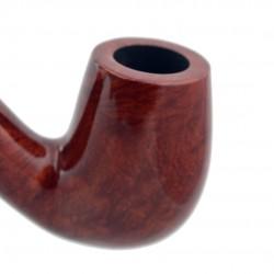 WALRUS TUSK (no. 111) bent billiard smooth orange pipe
