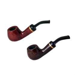 GREECE no. 131 briar bent smooth petite tobacco smoking pipe by Mr. Brog (Poland)