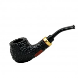 RUBEL no. 132 briar bent petite rustic black apple tobacco smoking pipe by Mr. Brog (Poland)
