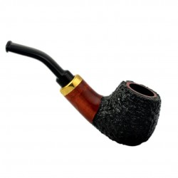RUBEL #132 briar rustic mini pipe