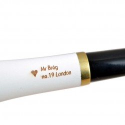 LONDON no. 19 pearwood straight lovat smooth white tobacco smoking pipe by Mr. Brog (Poland)