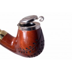 DEZERTER #13 orange carved churchwarden tobacco smoking pipe by Mr. Brog (Poland)