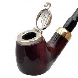 OLD ARMY no. 21 pearwood full bent red tobacco smoking pipe by Mr. Brog (Poland)