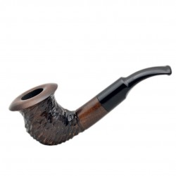 SHAMROCK no. 303 bent rustic red pearwood tobacco smoking pipe by Mr. Brog (Poland)