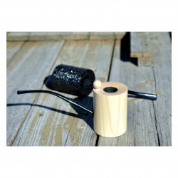 YERBA no. 306 massive bi-directional pearwood pipe