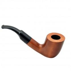 VIKING no. 37 pearwood bent billiard tobacco smoking pipe by Mr. Brog (Poland)