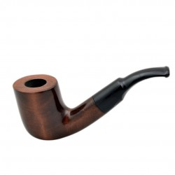 VIKING no. 37 pearwood bent billiard tobacco smoking pipe by Mr. Brog (Poland)