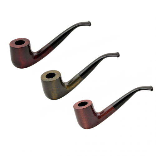 OLD BOY no. 38 pearwood full bent billiard tobacco smoking pipe by Mr. Brog (Poland)