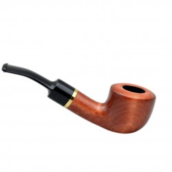 KENTUCKY no. 43 full bent orange pearwood tobacco smoking pipe by Mr. Brog (Poland)