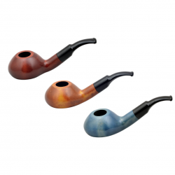 CHOCHLA no. 48 pearwood smooth round tobacco smoking pipe by Mr. Brog (Poland)