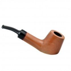 AMIGO no. 51 pearwood standing nude bent billiard tobacco smoking pipe by Mr. Brog (Poland)