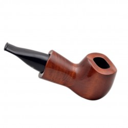 SCOOT no. 52 straight chubby bulldog pearwood tobacco smoking pipe by Mr. Brog (Poland)