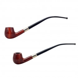 HOBBIT #59 orange churchwarden pipe