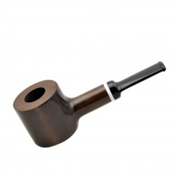 HAMMER no. 62 straight poker smooth pearwood tobacco smoking pipe by Mr. Brog (Poland)