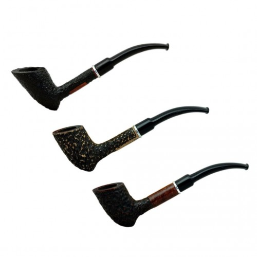 KUROSAWA no. 66 rustic bent zulu pipe