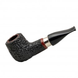 BELFAST no. 69 briar straight chubby rustic black billiard tobacco smoking pipe by Mr. Brog (Poland)