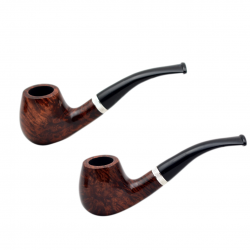 CONSUL no. 82 briar bent dark smooth brown billiard pipe by Mr. Brog (Poland)