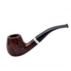 CONSUL no. 82 briar bent dark smooth brown billiard pipe by Mr. Brog (Poland)
