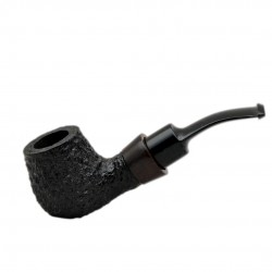 STANDUP no. 89 briar chubby bent rustic black billiard tobacco smoking pipe by Mr. Brog (Poland)