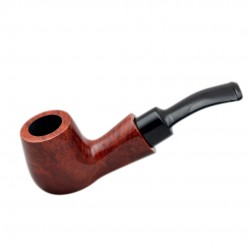 STANDUP no. 89 briar chubby bent smooth orange billiard tobacco smoking pipe by Mr. Brog (Poland)