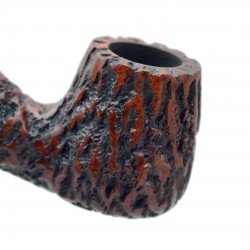 STANDUP no. 89 briar chubby bent rustic brown billiard tobacco smoking pipe by Mr. Brog (Poland)