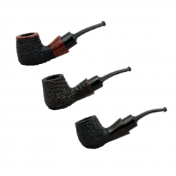 STANDUP #89 chubby bent rustic tobacco smoking pipe