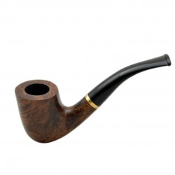 STEWARD no. 90 briar smooth brown bent tobacco smoking pipe by Mr. Brog (Poland)