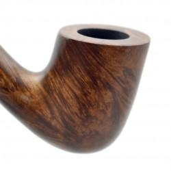 STEWARD no. 90 briar smooth brown bent tobacco smoking pipe by Mr. Brog (Poland)